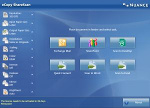 ecopy-Share-scan-suite-Home-Screen